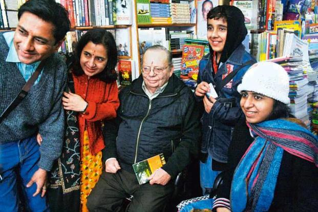Ruskin Bond makes an appearance in the form of two books. One is a short novel by him, the second, a coffee-table book on his life and times.
